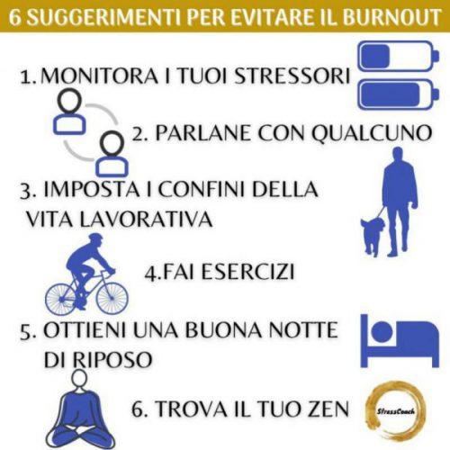 6 suggerimenti per evitare il burnout